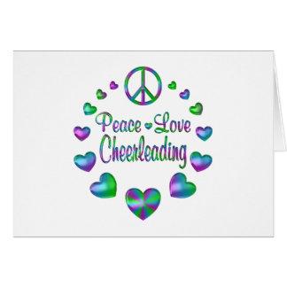 Peace Love Cheerleading Card