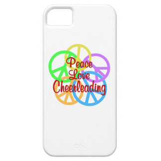 Peace Love Cheerleading iPhone 5 Cover