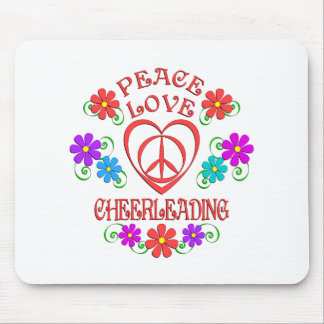Peace Love Cheerleading Mouse Pad