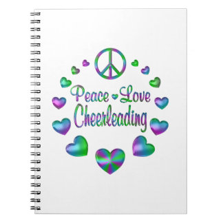 Peace Love Cheerleading Notebooks