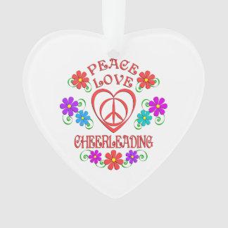 Peace Love Cheerleading Ornament