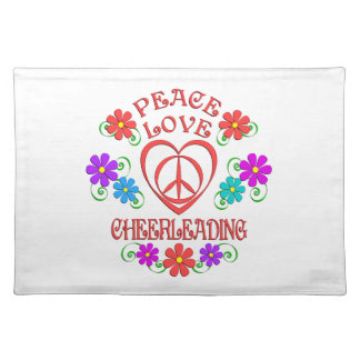 Peace Love Cheerleading Placemat