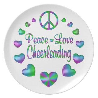Peace Love Cheerleading Plate