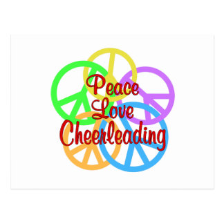 Peace Love Cheerleading Postcard