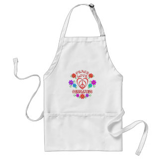 Peace Love Cheerleading Standard Apron