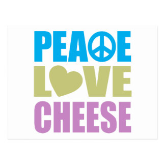 Peace Love Cheese Postcard