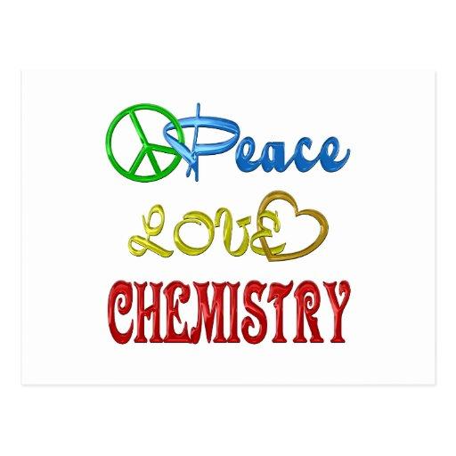 PEACE LOVE CHEMISTRY POSTCARD