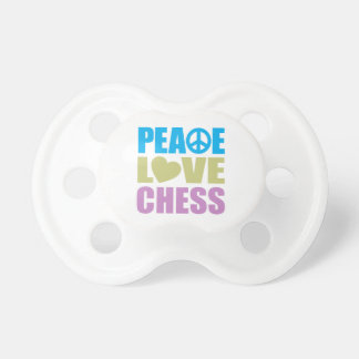 Peace Love Chess Pacifiers