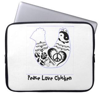 Peace Love Chicken Laptop Computer Sleeve