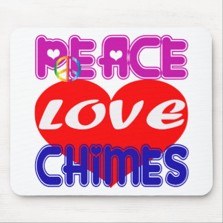 Peace Love Chimes Mouse Pad
