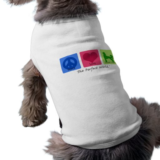 Peace Love Chinese Crested Pet Shirt