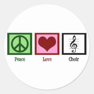Peace Love Choir Round Sticker