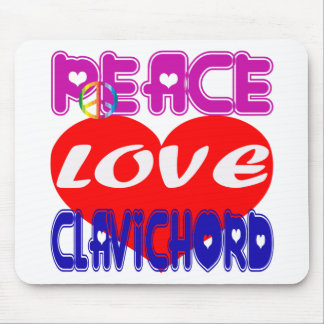 Peace Love Clavichord Mouse Pad