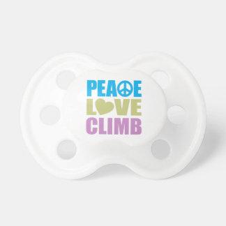 Peace Love Climb Pacifier
