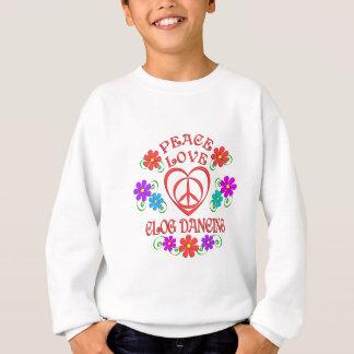 Peace Love Clog Dancing Sweatshirt