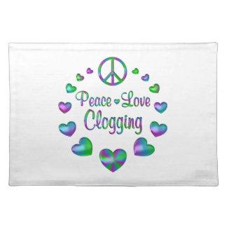Peace Love Clogging Placemat