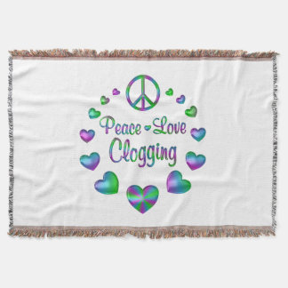 Peace Love Clogging Throw Blanket