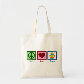 Peace Love Clowns Tote Bag