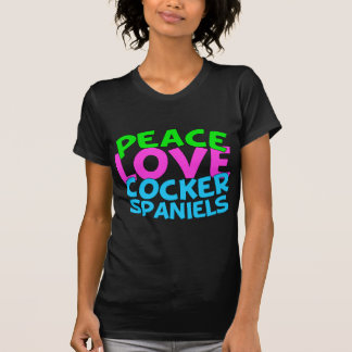 Peace Love Cocker Spaniels T-Shirt