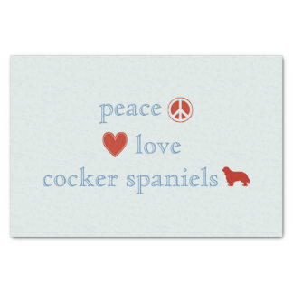 Peace Love Cocker Spaniels Tissue Paper