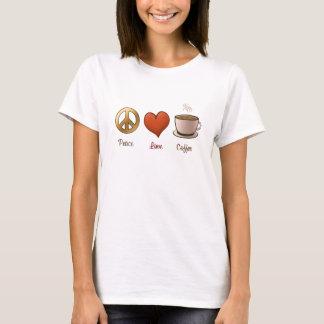 Peace, Love, Coffee T-Shirt