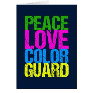 Peace Love Color Guard Card
