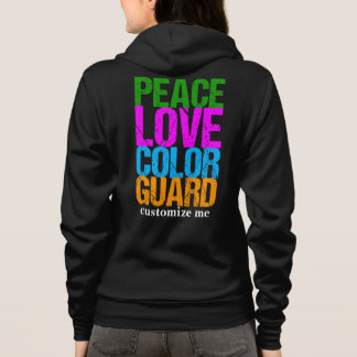 Peace Love Color Guard Custom Hoodie