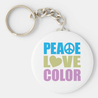 Peace Love Color Keychain