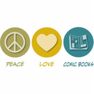 Peace Love Comic Books Photo Cut Outs