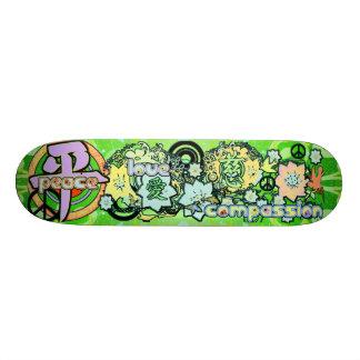 Peace-Love-Compassion-Kanji - Skate Board