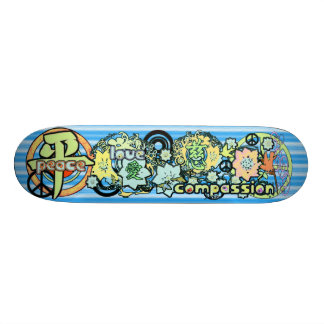 Peace-Love-Compassion-Kanji - - - Skateboard Decks