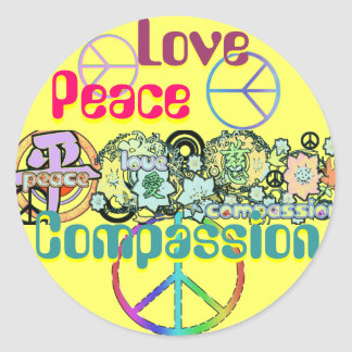 Peace Love Compassion Sticker