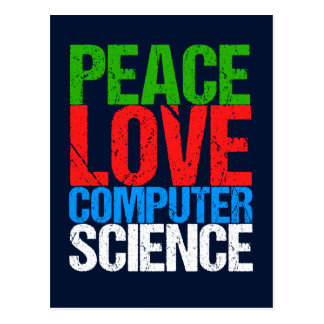 Peace Love Computer Science Postcard