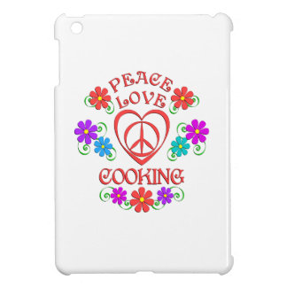Peace Love Cooking Cover For The iPad Mini