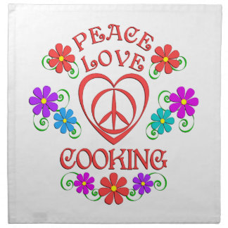 Peace Love Cooking Napkin