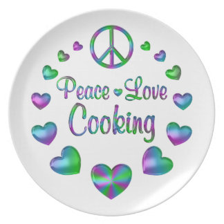 Peace Love Cooking Plate
