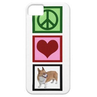 Peace Love Corgis iPhone 5 Cover