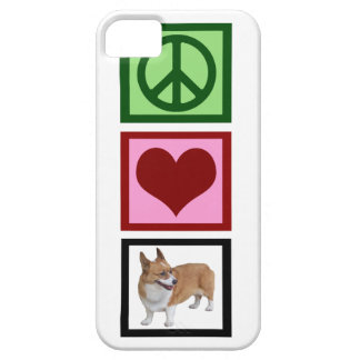 Peace Love Corgis iPhone 5 Covers