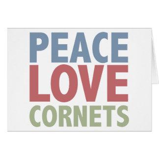 Peace Love Cornets Card