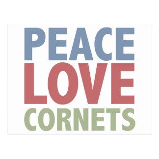 Peace Love Cornets Postcard