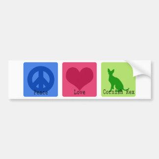 Peace Love Cornish Rex Bumper Sticker