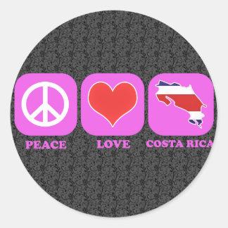 Peace Love Costa Rica Classic Round Sticker