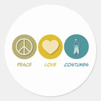 Peace Love Costumes Round Sticker