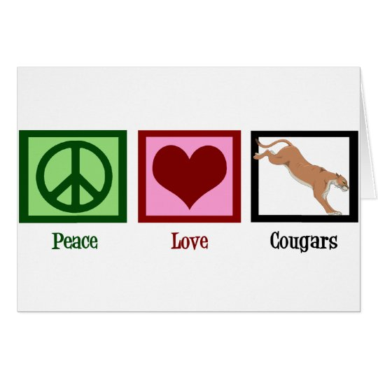 Peace Love Cougars Card