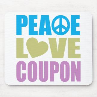Peace Love Coupon Mousepads