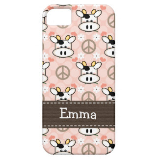 Peace Love Cow iPhone 5 Cases