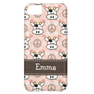 Peace Love Cow iPhone 5C Cover