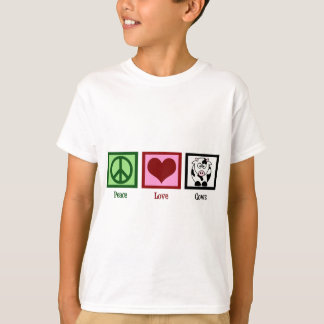 Peace Love Cows Kids T-Shirt