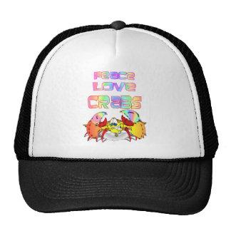 PEACE LOVE CRABS TRUCKER HAT