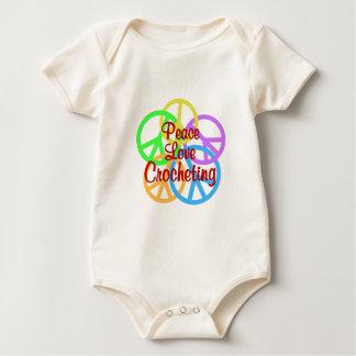 Peace Love Crocheting Baby Bodysuit